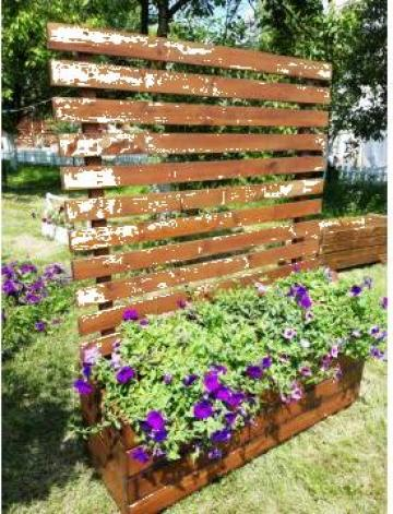 Jardiniere lemn masiv de la Decoramix Srl