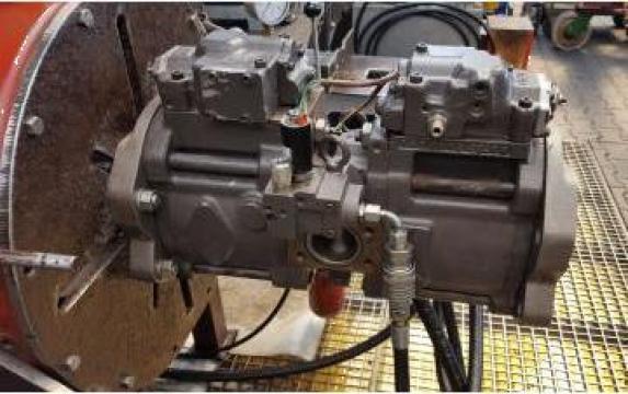 Reparatie pompa hidraulica Kawasaki K3V112DT de la Roted