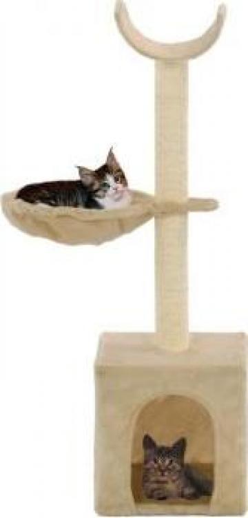 Ansamblu pisici, stalpi funie de sisal, 105 cm, bej de la Vidaxl
