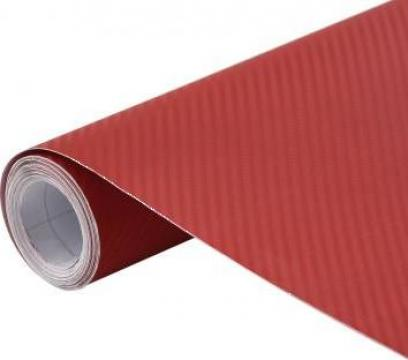 Folie auto 3D, rosu, 500 x 152 cm