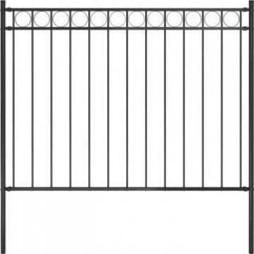 Gard de gradina, negru, 1,7 x 1,2 m, otel de la Vidaxl