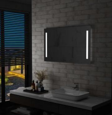 Oglinda de perete de baie cu LED, 100 x 60 cm