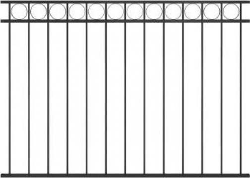 Panou de gard, negru, 1,7 x 1,2 m, otel de la Vidaxl
