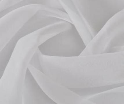 Panza de voal, 1,45 x 20 m, alb