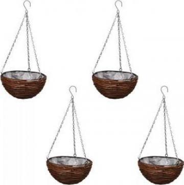 Set cosuri suspendate impletite din salcie de la Vidaxl