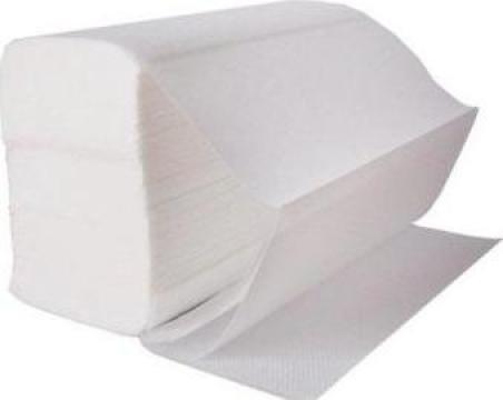 Prosoape pliate V,albe ,2 straturi,150buc/set,20seturi/bax de la Cristian Food Industry Srl.