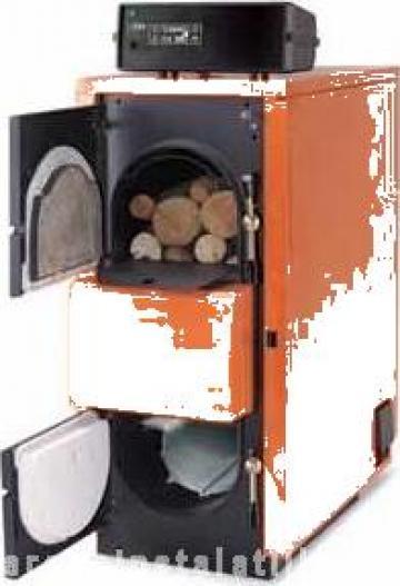 Cazan pe lemne cu gazeificare FU 56 R inox de la PFA Chivaru Corneliu