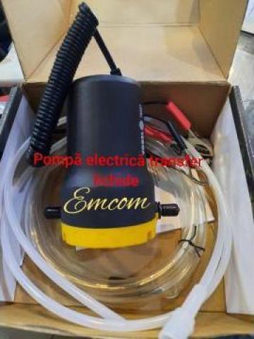 Pompa transfer lichide electrica 12 V de la Emcom Invest Serv Srl
