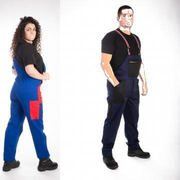 Pantalon salopeta cu pieptar de la Georom Next Concept Srl