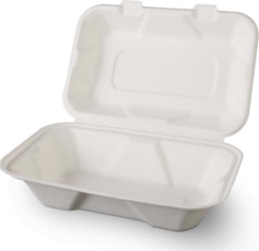 Caserola biodegradabila meniu 1 compartiment 500 buc/bax de la Cristian Food Industry Srl.