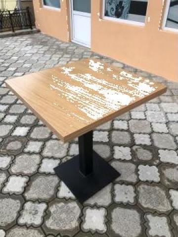 Masa/mese cu picior metalic - HoReCa, bistro, fast food, bar