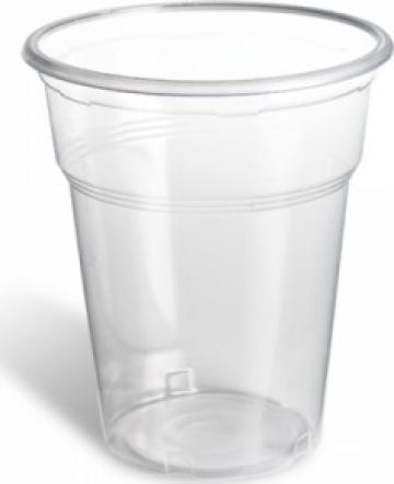 Pahare transparente din plastic 500ml 50 buc/set de la Cristian Food Industry Srl.