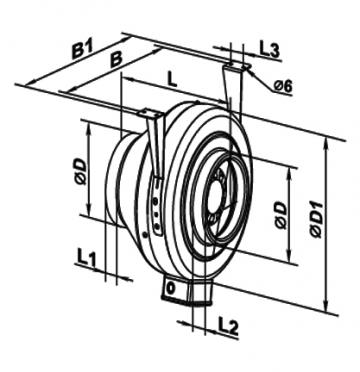 Ventilator centrifugal 125