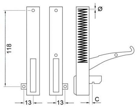 Balama usa cuptor L=155 mm