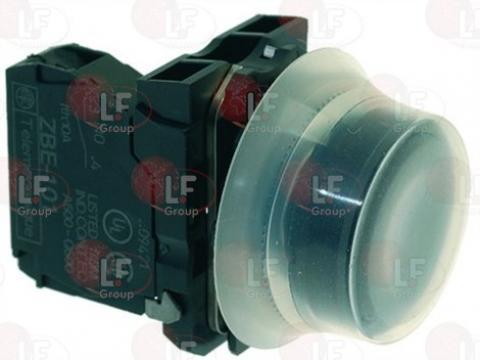 Buton negru pornire 3A, 240V, 22mm