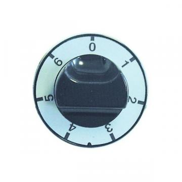 Buton robinet de gaz cu 7 pozitii, 65 mm, ax 6x4,6 mm