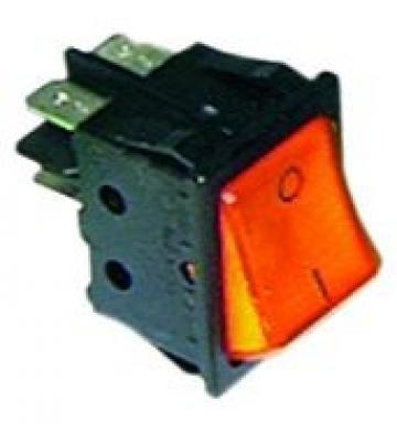 Comutator portocaliu 30x2mm, 2NO, 250V de la Kalva Solutions Srl