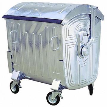 Container metalic 1100 litri, zincat la cald