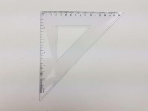 Echer 45° si 16 cm