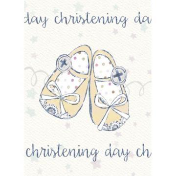 Felicitare botez Christening Day - pantofiori de la Krbaby.ro - Cadouri Bebelusi
