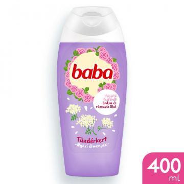 Gel de dus cu parfum de soc si apa de trandafiri Baba 400ml
