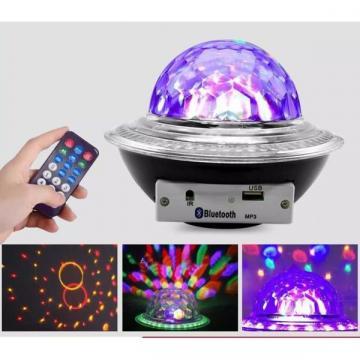 Glob disco cu LED RGB jocuri de lumini si MP3 LED UFO