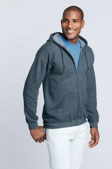 Bluzon Heavy Blend Adult Full Zip Hooded Sweatshirt