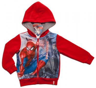 Hanorac bumbac baieti, Spiderman, rosu
