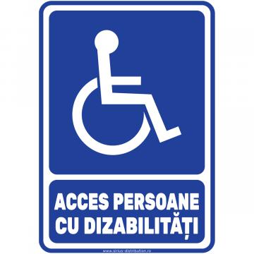 Indicator autocolant - Acces persoane cu dizabilitati - A5 de la Sirius Distribution Srl