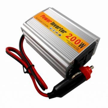 Invertor auto 12V la 220V/200W cu USB de la Color Data Srl