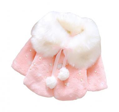 Jacheta iarna bebelusi fete, roz de la A&P Collections Online Srl-d