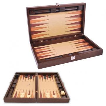 Joc table backgammon din lemn Premium Gold 52 x 60 cm de la Chess Events Srl
