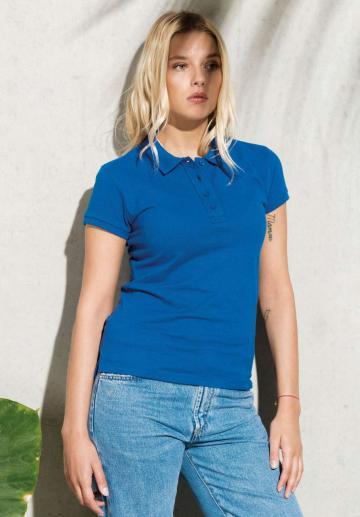 Tricou Ladies Organic Pique Short Sleeve Polo Shirt de la Top Labels