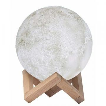 Lampa de veghe in forma de luna reincarcabila, Moon Lamp 3D de la Startreduceri Exclusive Online Srl - Magazin Online - Cadour