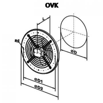 Ventilator axial OVK 2E 300