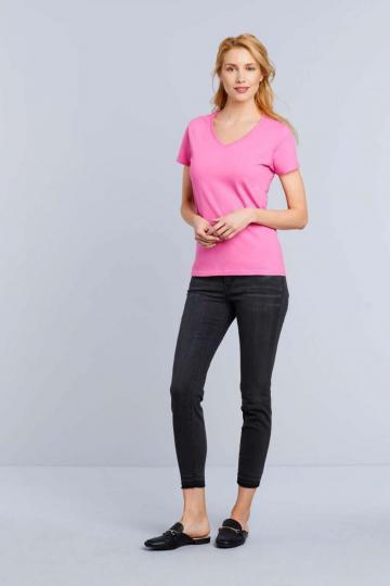 Tricou dama Premium Cotton Ladies' V-neck T-shirt de la Top Labels