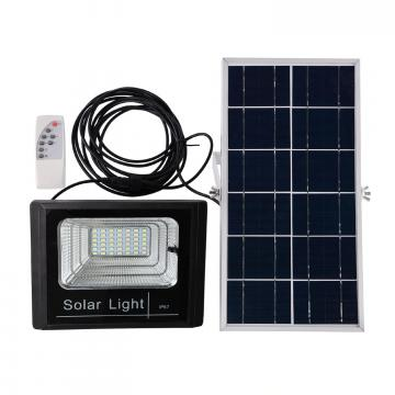 Panou solar cu proiector 25W, cu telecomanda