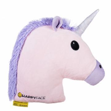 Perna decorativa Emoji Unicorn Pink Happy Face de la Mobilab Creations Srl