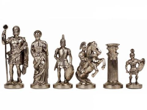 Piese sah din metal Grecii si Romanii mare de la Chess Events Srl
