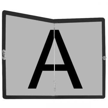 Placa pliabila Transport Deseuri, din aluminiu