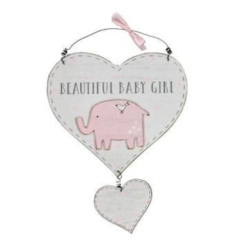 Placuta cu mesaj Beautiful Baby Girl Petit Cheri