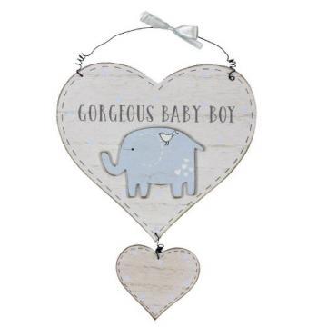 Placuta cu mesaj Gorgeous Baby Boy Petit Cheri