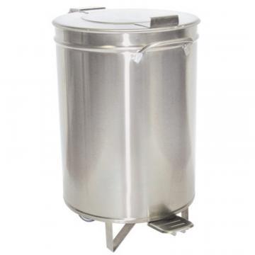 Pubela inox, cu pedala, capacitate 95 litri - Inox Piave