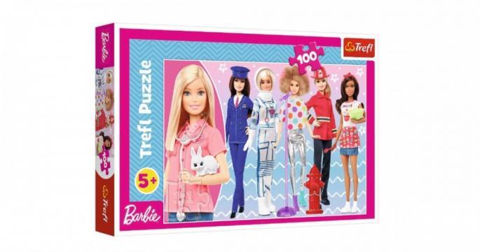 Puzzle clasic copii - Barbie Poti fi ce vrei 100 piese de la Pepita.ro
