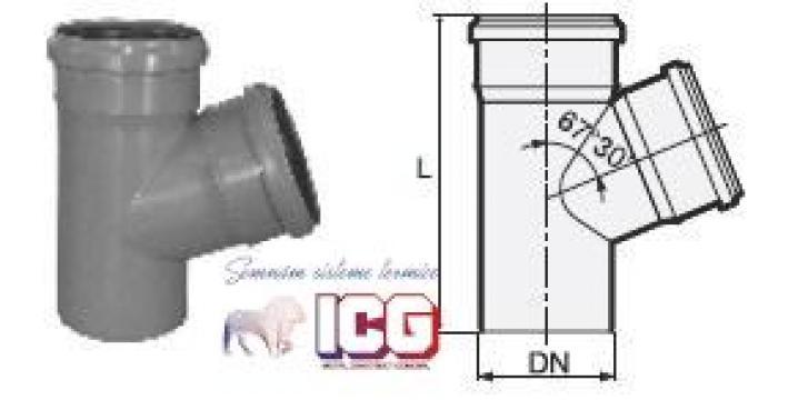 Ramificatie polipropilena pentru canalizare D.32XD.32X67 de la ICG Center