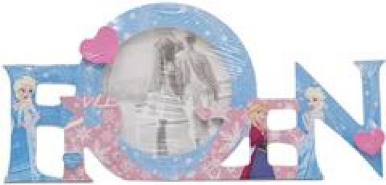 Rama foto, Frozen, poza rotunda, 10 cm