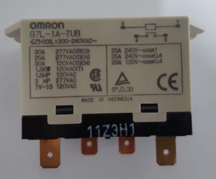 Releu SPST-NO, 30A, 200/240VAC, Omron G7L-1A-TUB