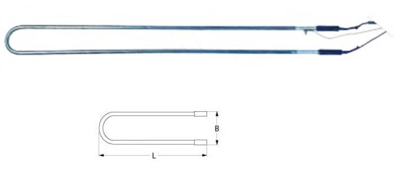Rezistenta electrica defrost 150W, 230V, L=630mm