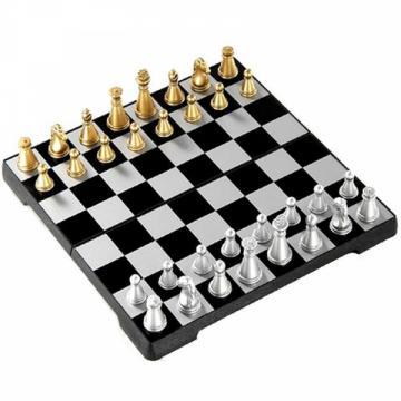 Sah magnetic Travel, piese auriu/argintiu de la Chess Events Srl