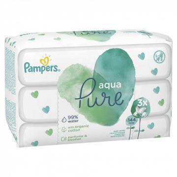 Servetelele umede Pampers Aqua Pure 3x48buc de la Pepita.ro